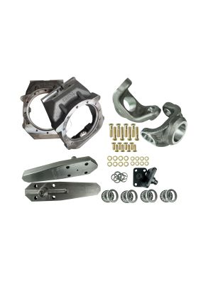 Crane Axle Magnum Knuckle Kit with all components and High Steer Arms Top View