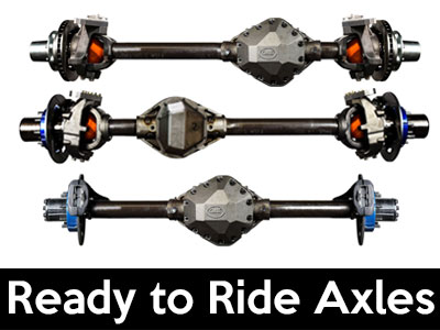 Crane Axle Ready to Ride Axle Assemblies