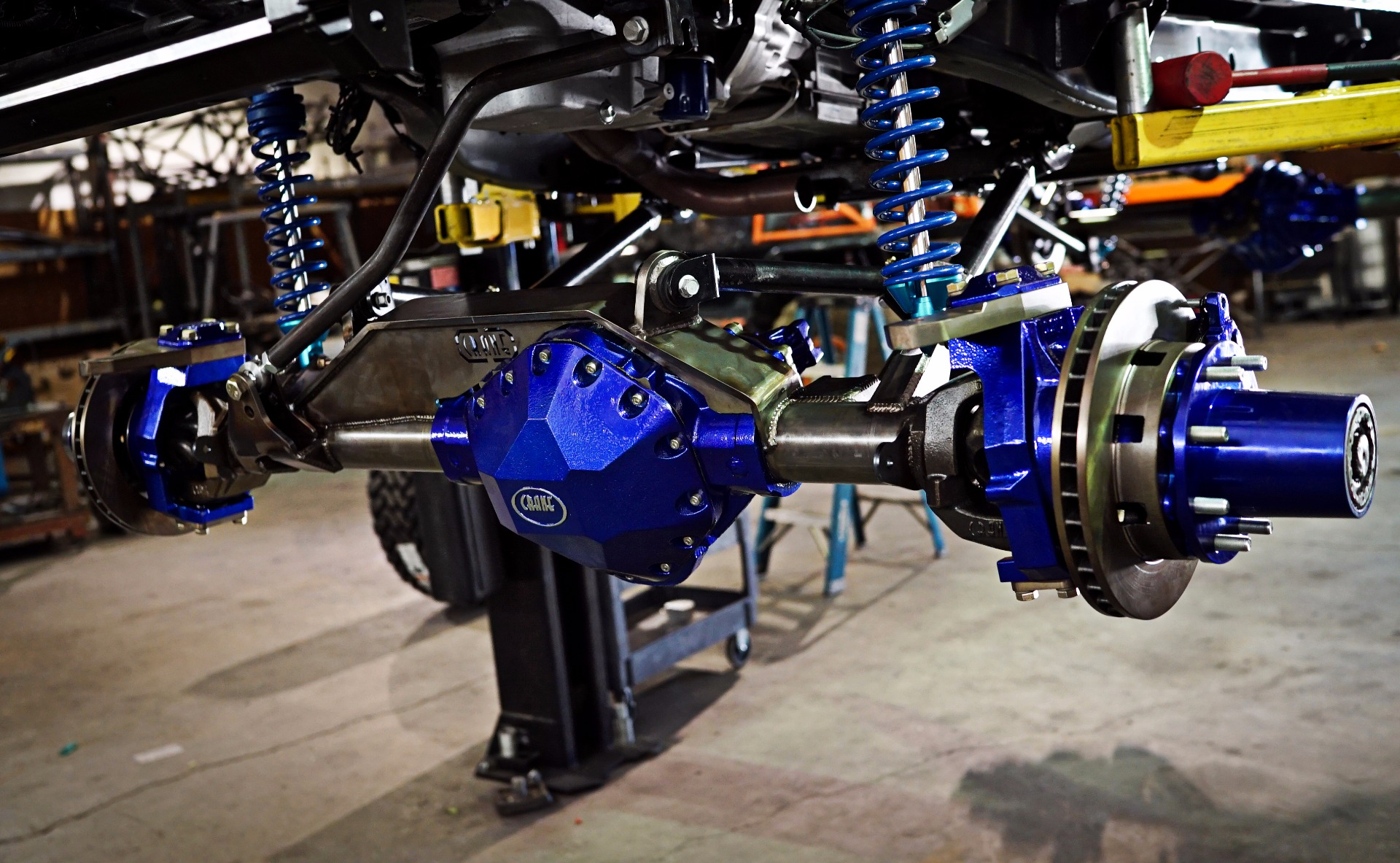 14 Bolt Axle with Steering Knuckle Kit Installed